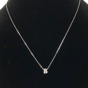 "NWT NADRI Pave CZ ""B"" Initial Pendant Necklace"